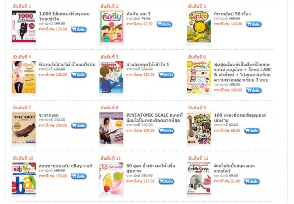 ตัวอย่างหนังสือในร้าน ComplexPlaza